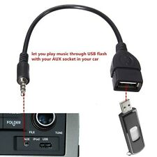 3.5mm AUX Audio Plug Jack to USB 2.0 Male Converter Cable Cord Car For MP3 iPod#