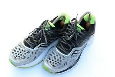 Saucony Ride 10 Gray Black Neon Green Mens Running Shoes sz 8
