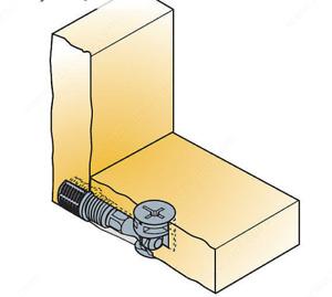 Pack 25 Cam Lock Nut Turn Faster Connector Screw Dowel CP5914 T5572ZA 10x8x12mm