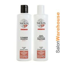 Nioxin System 4 Cleanser Sham + Scalp Conditioner - Duo  Pack 300ml New Packing
