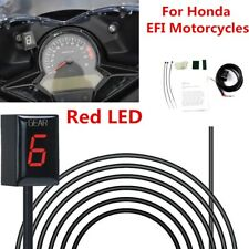 Waterproof Plug and play 1-6 Level Red LED Motorcycle Gear Indicator For Honda