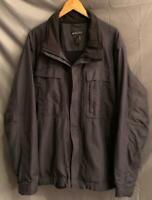 REI Men's Size XXL Gray Full Zip EUC Fully Lined Medium Weight Parka/Jacket!