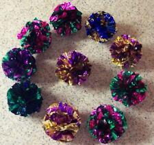 10 lot MYLAR balls crinkle cat toys kitten toy ball free shipping