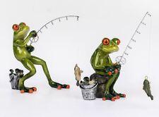 772060 Frosch Taucher hellgrün 15cm aus Kunststein mit witzigen Details