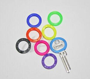 3 Schlüsselkennringe rund Schlüsselmarkierer Schlüsselkappen