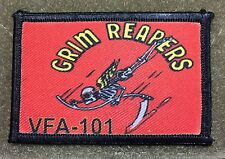 "VFA 101 ""Grim Reapers""  F/A-18 Hornet  F-25 Morale Patch Tactical Military Army"