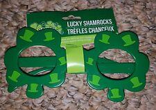 Lucky Shamrocks Green Novelty Eyeglasses shamrock shaped
