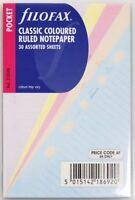 Filofax Einlage Pocket: linierte, bunte Notizblätter, 210508