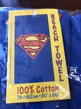 "Superman Shield Cotton Beach Towel, 30""x 60"""