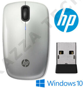 HP NEW Z3200 Silver Wireless Optical Sleek Mouse Compact for PC Laptop MAC Linux