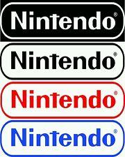 "2 Nintendo Logo decals 9"" choose Many colors door fridge car truck console decal"