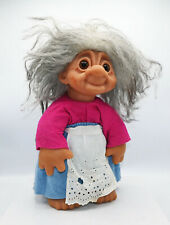"Vintage 1977 Thomas Dam Troll Doll 13"" *Old Lady*"
