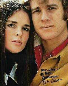 GFA Love Story '70 Movie ALI MacGRAW & RYAN O'NEAL Signed 8x10 Photo L1 COA