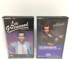 Lee Greenwood 2 Cassette Tape Lot Greatest Hits & Somebody's Gonna Love You