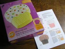 Wilton 2010 CUPCAKE Pink-Purple Silicone Cake Pan Mold w/ Instructions & Box