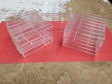 Lot of 15 Empty, Clear new never used Hard-Plastic Audio Cassette Tape Cases