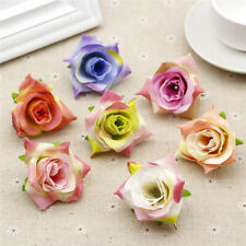 Fake Small Rose 10/20Pcs Bulk Artificial Silk Flower Heads Craft Wedding Decor