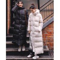 Winter Women Overlength Puffer Down Cotton Parka Overcoat Korean Hood Warm Coat