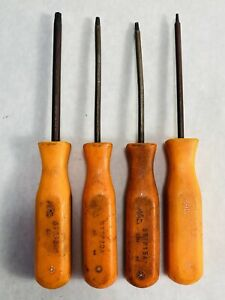 MAC Tools USA STTP Series 4 Piece Orange T8-T30 Tamper Torx Screwdriver Lot Set