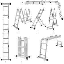 GreenWise® 7-in-1 Aluminum Folding Scaffold Work Ladder W/ 2 Plate, 11.5ft
