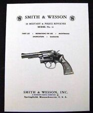 Smith & Wesson 38 Cal. Model 10 Revolver Manual  - #SW3