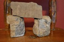 New listing 3 Piece Rock Formation,Aquarium Mountain Rocks,Cave,Bridge,Gray,Re ptile Basking