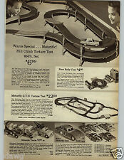 1966 PAPER AD Toy Motorific Track Trucks GTO Johnny Speed Remote Tower '57 Chevy