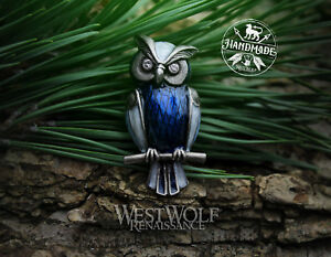 Bubo the Owl Brooch/Pin - Clash of the Titans --- Viking/Celtic/Silver/Medieval