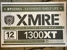 XMRE 1300XT Meals Ready to Eat (MRE) Military Grade CASE - 12 Pack