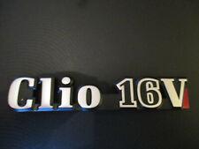 Renault Clio 16V Schriftzug Emblem Typenschild Zeichen Logo Typschild Typzeichen