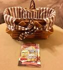 LONGABERGER 1998 Picture Perfect Sweetheart Basket W Fabric Liner Combo Purple