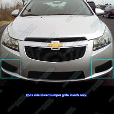 Fits 2011-2014 Chevy Cruze Fog light Cover Black Billet Grille Grill Insert
