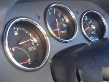 Para Toyota Supra MKIV JZA80 calibre 93-98 Cromo Dial anillos Aluminio Pulido x3