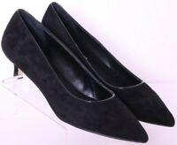 NEW Donald Pliner Black Suede Pointed Toe Dress Low Heel Shoes Women's US 7.5M