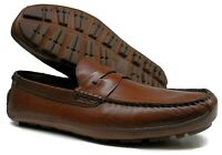 Men's H.S. Trask® PS 30-90001 Penny Loafer, Slip-On Brown Shoes Size 10.5 M