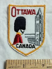 Ottawa Ontario CANADA Canadian Soldier Mountie RCMP Souvenir Patch Badge