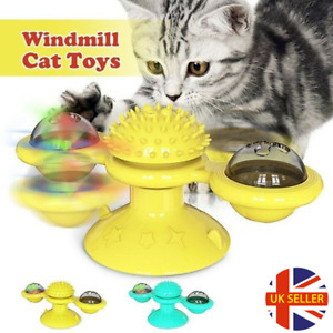 Rotating Windmill Cat Toy Turning Windmill Turntable Tickle Teasing Cat Toy UK