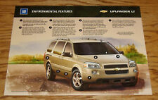 Original 2005 Chevrolet Uplander LT Environmental Features Sales Sheet Brochure