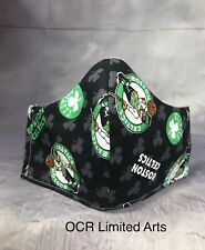 BOSTON CELTICS 3 Layer Fitted Face Mask Face Cover