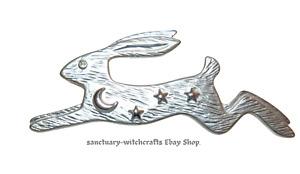Hare, Crescent Moon & Stars Brooch.
