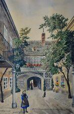 Max NEUBAUER  1890-1920  Hof des Schuberthauses , Nusdorferstraße 54