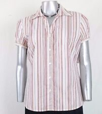 """East 5th BLOUSE Size L """" ISLAND  STRIPED"""" NWT"""