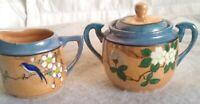 1930s JAPAN Takito lusterware hand painted porcelain Cream And Sugar Set