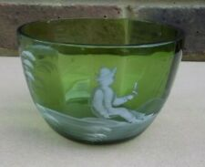 Antique MARY GREGORY STYLE Glass Bowl