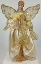 12' Angel Christmas Tree Topper, Gold & White, Brand New