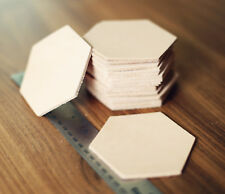 20 Plain Hexagonal Leather Coasters Vegetable Tanned thick Cowhide Crafts 3.5""