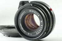 [EXC+5] Minolta M Rokkor 40mm F/2 For Leica Leitz CL CLE M mount From Japan #H21
