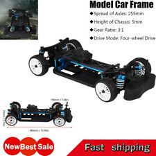 New! CNC&Carbon 1:10 AWD 4WD RC Car Frame Kit w/4 Wheels for ZD Racing Drift Car