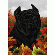 Fall Garden Flag - Black American Pit Bull Terrier 134071