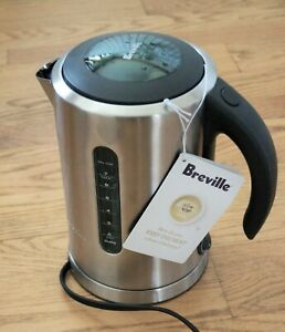 New Breville BKE700BSS Soft Top Pure Tea Kettle-Brushed Stainless Steel